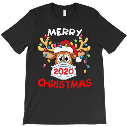Reindeer In Mask Funny Merry Christmas 2020 T-shirt Designed By Mrt90