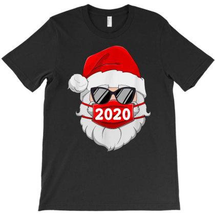 Santa With Face Mask Christmas 2020 Family Pajamas Xmas Gift T-shirt Designed By Mrt90