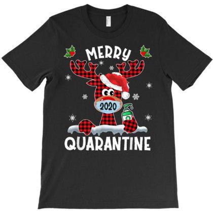 Merry Quarantine Christmas 2020 Reindeer Mask Family Pajamas T-shirt Designed By Mrt90