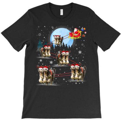 Funny Reindeer Santa Xmas Gift For Dog Lover T-shirt Designed By Mrt90