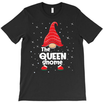 Queen Gnome Family Matching Christmas Funny Gift Pajama T-shirt Designed By Mrt90