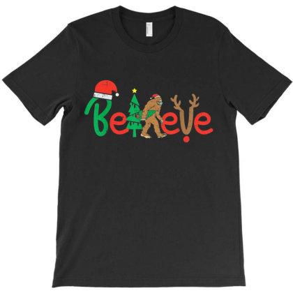 Believe Bigfoot Sasquatch In Mask Christmas Quarantine Gift T-shirt Designed By Mrt90