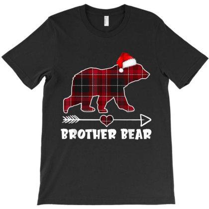 Red Plaid Buffalo Brother Bear Christmas Pajama Family Gift T-shirt Designed By Mrt90