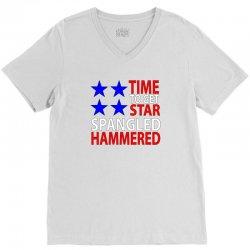 time to get star spangled hammered V-Neck Tee   Artistshot