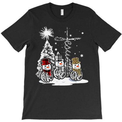 Jesus Faith Hope Love Snowman Funny Xmas For Christian T-shirt Designed By Mrt90