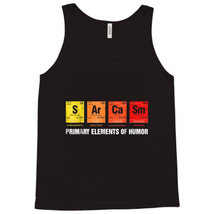 Primary Elements Of Humor Tank Top Designed By Happy1221