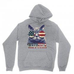 4th of july tshirt cat meowica Unisex Hoodie | Artistshot