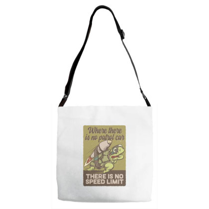 Turtle On The Rocket Adjustable Strap Totes Designed By Dulart