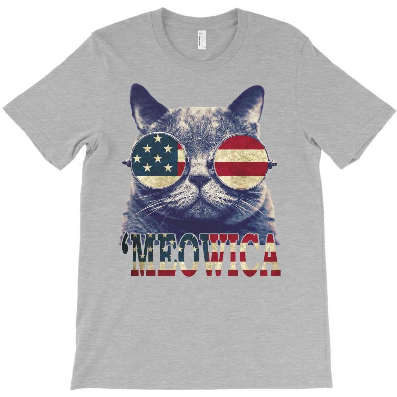 4th Of July Tshirt Cat Meowica T-shirt | Artistshot