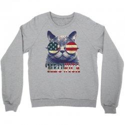 4th of july tshirt cat meowica Crewneck Sweatshirt | Artistshot