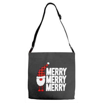Cute Christmas Gnome Adjustable Strap Totes Designed By Tht