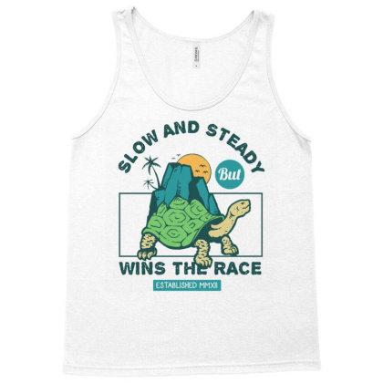 Turtle Walking Slow But Steady Tank Top Designed By Dulart