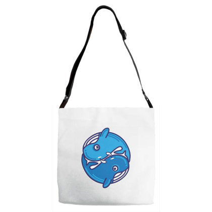 Two Whales Adjustable Strap Totes Designed By Dulart