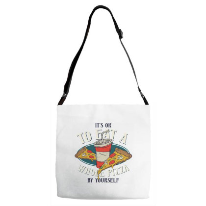 Two Pizzas And Drink Adjustable Strap Totes Designed By Dulart