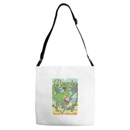 Tyrannosaurus Playing On Electric Guitar Adjustable Strap Totes Designed By Dulart