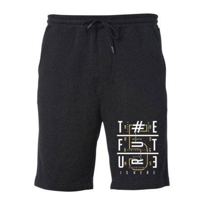 Typography Fleece Short Designed By Dulart
