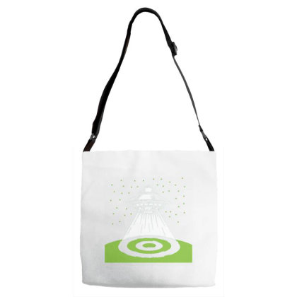 Ufo Crop Circle Adjustable Strap Totes Designed By Dulart