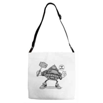 Ufo Selfie Adjustable Strap Totes Designed By Dulart
