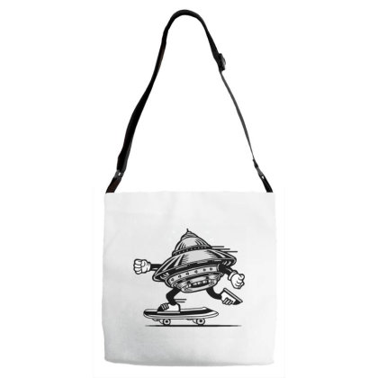 Ufo Skateboarding Adjustable Strap Totes Designed By Dulart