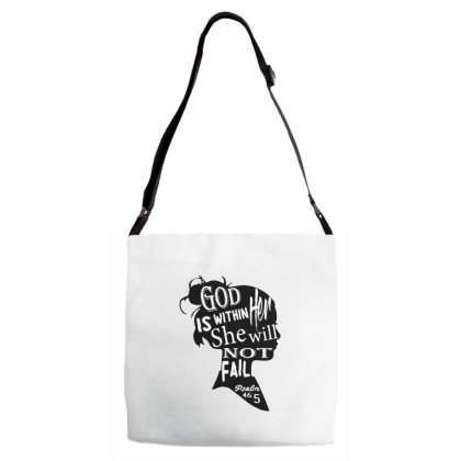 God Is Within Her She Will Not Fail Adjustable Strap Totes Designed By Samlombardie