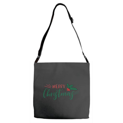 Merry Christmas Fruit Adjustable Strap Totes Designed By Samlombardie