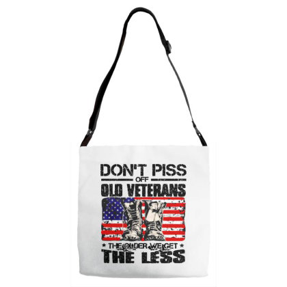 Don't Piss Off Old Veterans Adjustable Strap Totes Designed By Kimochi