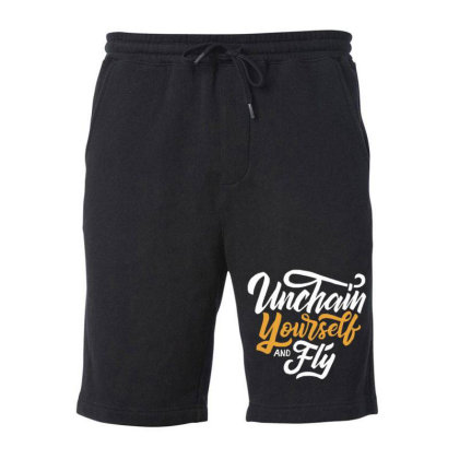 Unchain Yourself And Fly Fleece Short Designed By Dulart