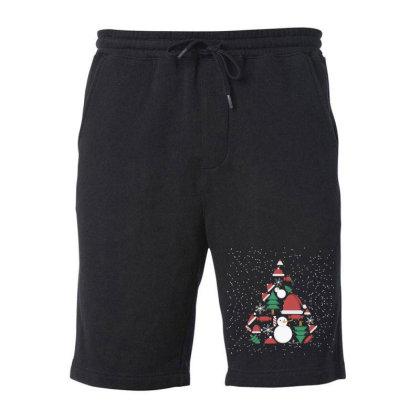 Christmas Background Fleece Short Designed By Lorenzoichester