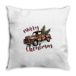 Leopard Printed Car Merry Christmas Throw Pillow Designed By Lorenzoichester