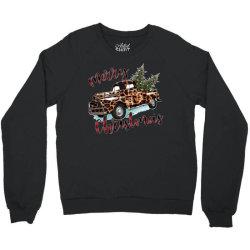 Leopard Printed Car Merry Christmas Crewneck Sweatshirt Designed By Lorenzoichester