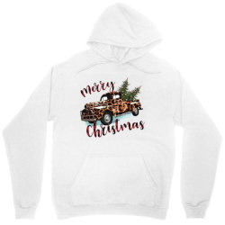 Leopard Printed Car Merry Christmas Unisex Hoodie Designed By Lorenzoichester