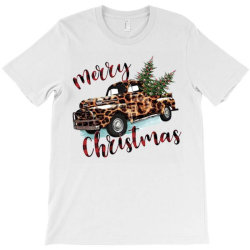 Leopard Printed Car Merry Christmas T-shirt Designed By Lorenzoichester