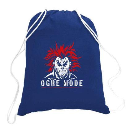 Ogre Mode Logo Drawstring Bags Designed By Yahyafasya