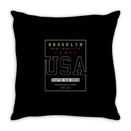 Usa  3 Throw Pillow Designed By Dulart