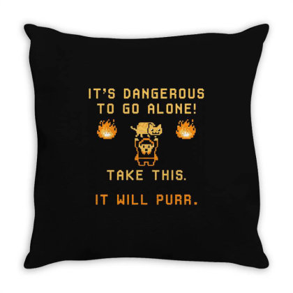 It's Dangerous To Go Alone Throw Pillow Designed By Ruarthur