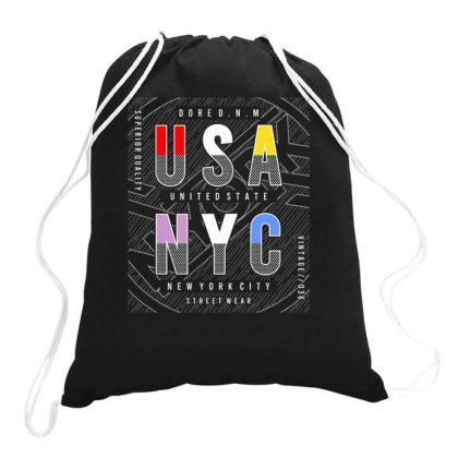 Usa Nyc Drawstring Bags Designed By Dulart