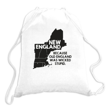 New England, Because Old England Drawstring Bags Designed By Ruarthur