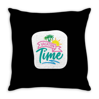 Vacation Time Throw Pillow Designed By Dulart