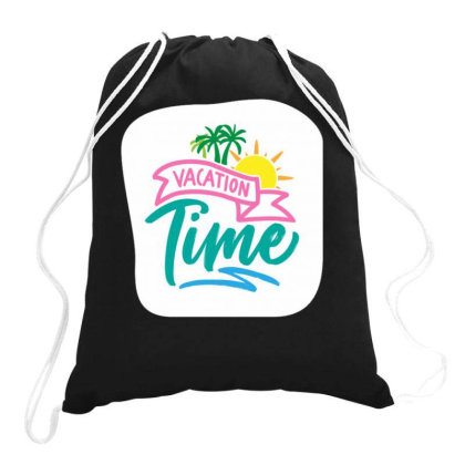 Vacation Time Drawstring Bags Designed By Dulart