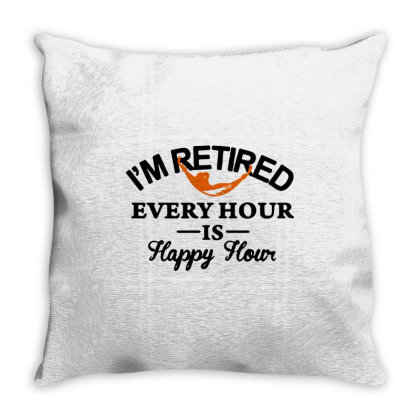Every Hour Is Happy Hour Throw Pillow Designed By Kimochi