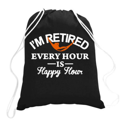 Every Hour Is Happy Hour Drawstring Bags Designed By Kimochi