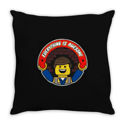 Everything Is Awesome Throw Pillow Designed By Kimochi