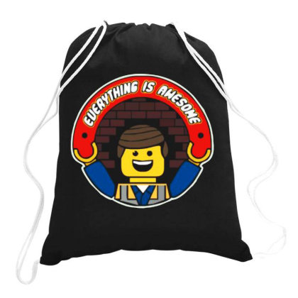 Everything Is Awesome Drawstring Bags Designed By Kimochi