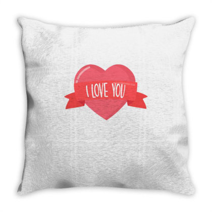 Valentine's Day Heart Throw Pillow Designed By Dulart