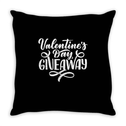 Valentine's Day Giveaway Throw Pillow Designed By Dulart
