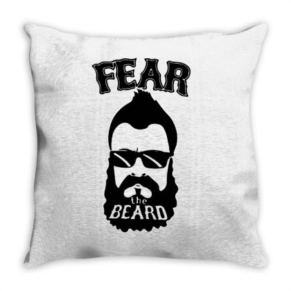 Fear The Beard Throw Pillow Designed By Kimochi
