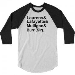Hamilton Revolutionaries 3/4 Sleeve Shirt   Artistshot