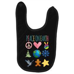 PEACE ON EARTH Baby Bibs | Artistshot