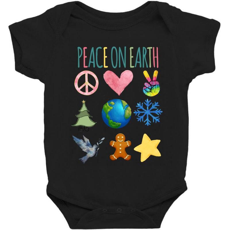 Peace On Earth Baby Bodysuit | Artistshot