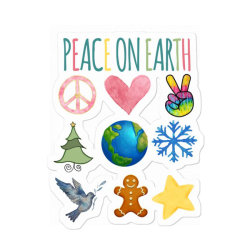 Peace On Earth Sticker Designed By Bettercallsaul